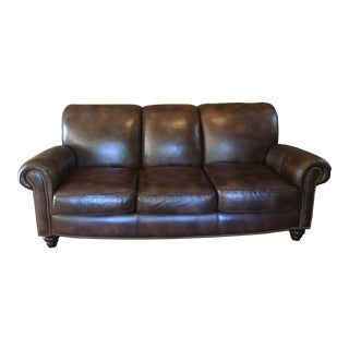 Hancock & Moore Leather Sofa For Sale