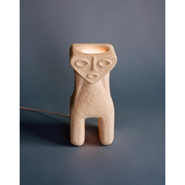 Albert Tormos 1970s Albert Tormos Figural Stone Lamp For Sale - Image 4 of 4