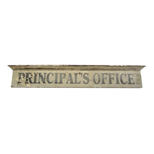 Vintage Wooden Principal's Office Sign - Image 4 of 5