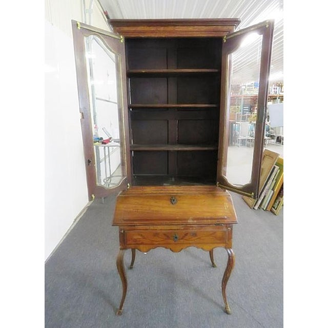 18th C. Louis XVI Style French Inlaid Secretary Desk For Sale - Image 4 of 10