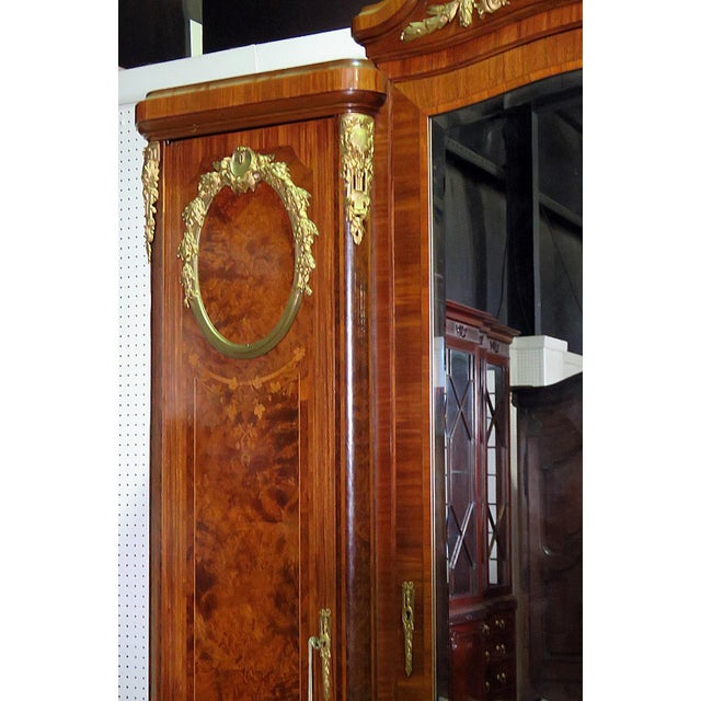 Regency Style Inlaid Armoire For Sale In Philadelphia - Image 6 of 13