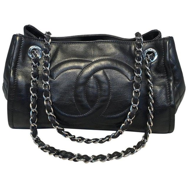 Chanel Black Leather Mini Duffle Shoulder Bag For Sale - Image 12 of 12