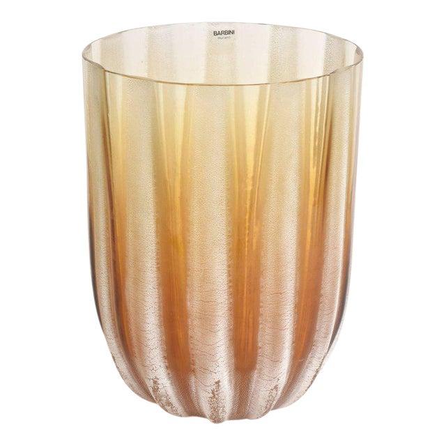 Italian Murano Barbini Acid Etched Monumental Glass Vase - Image 1 of 10