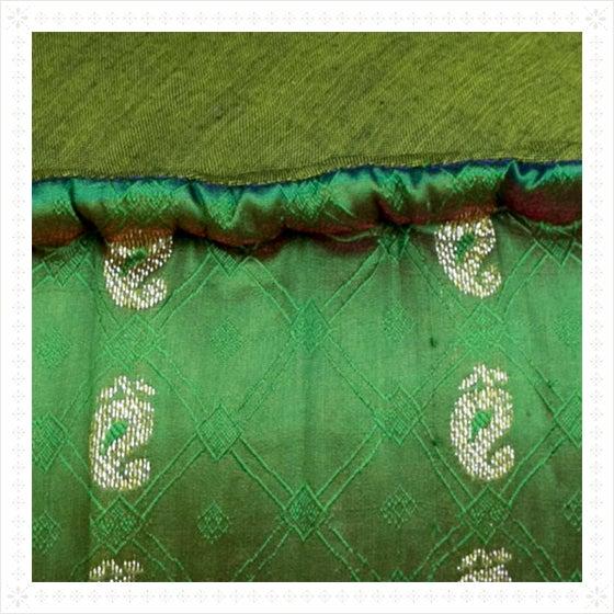 Emerald Ikat Pouf - Image 2 of 2