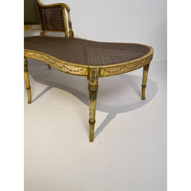 Painted Fainting Chair, England Circa 1810 For Sale In San Francisco - Image 6 of 11