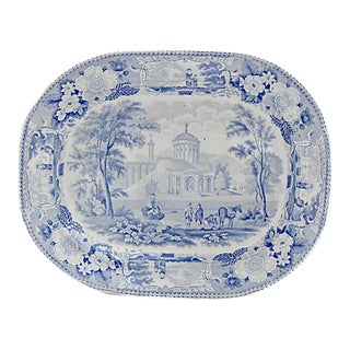 1830s Staffordshire Transferware Platter For Sale