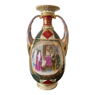 Vintage Royal Vienna-Style Shield/Beehive Marked Austrian Vase For Sale