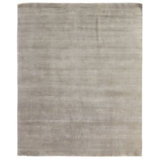 Exquisite Rugs Trillo Hand loom Wool Light Green Rug-6'x9' For Sale
