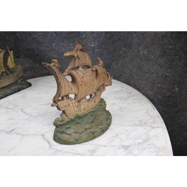 Traditional Early 20th Century Vintage Columbus Ship Doorstop For Sale - Image 3 of 5