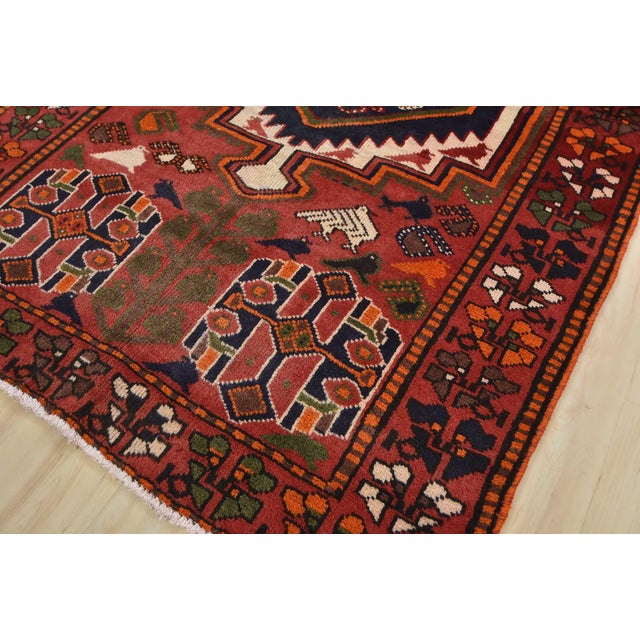 Vintage Persian Luri Rug- 4′1″ × 7′5″ For Sale - Image 4 of 13