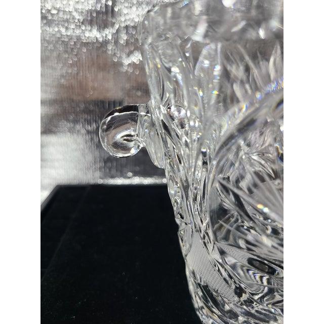 Art Deco Vintage Cut Crystal Ice Bucket For Sale - Image 3 of 7