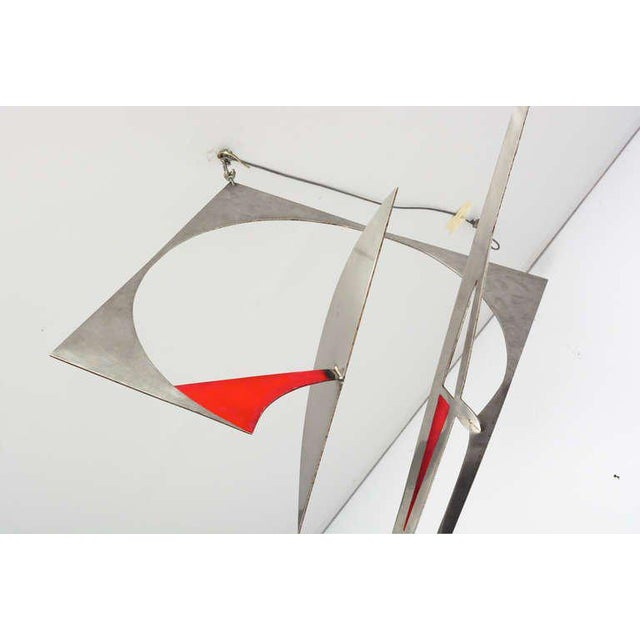 Metal Stainless Steel Hanging Mobile Sculpture For Sale - Image 7 of 10