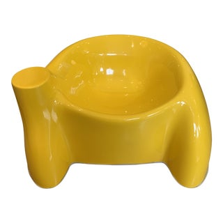 "Wendell Castle Yellow ""Castle"" Chair For Sale"
