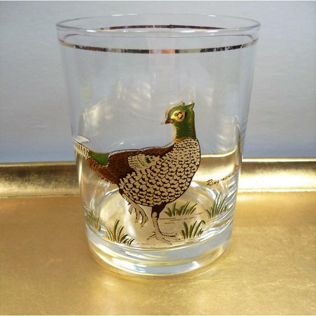 Vintage Mid Century Culver Assorted Game Bird Bar Glasses - Set of 4 - Image 5 of 9