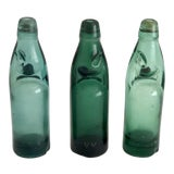 Image of Vintage Codd Neck Soda Bottles - Set of 3 For Sale