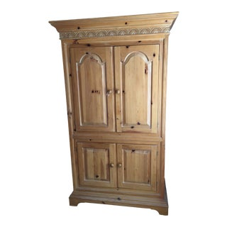 Vintage Link Taylor Pine Armoire For Sale