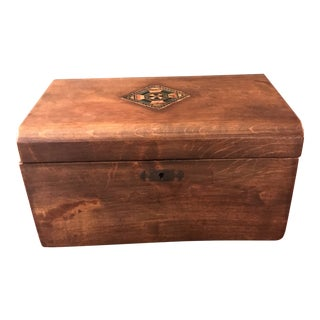 Wooden Lined Dresser Box For Sale