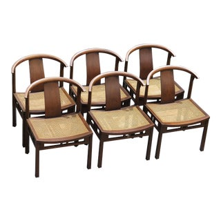 1950s Vintage Michael Taylor for Baker Mod Dining Chairs- Set of 6 For Sale