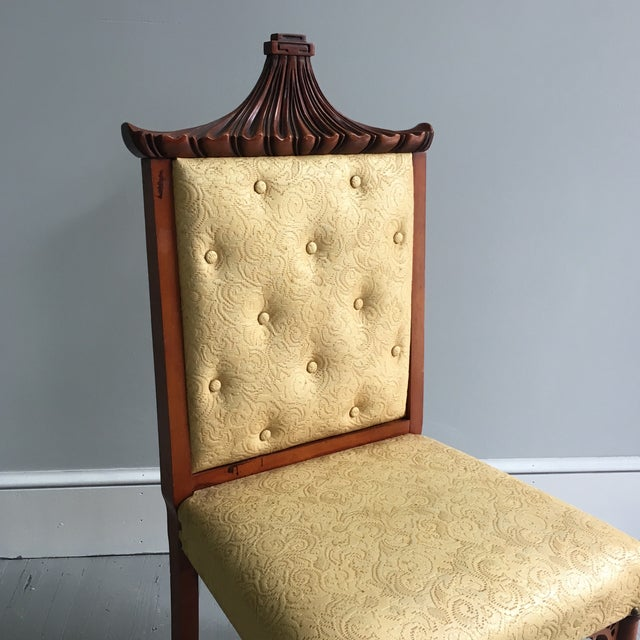 Antique Pagoda Side Chair - Image 9 of 9