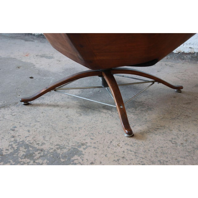 """George Mulhauser for Plycraft """"Mr. Chair"""" and Ottoman For Sale - Image 9 of 10"""