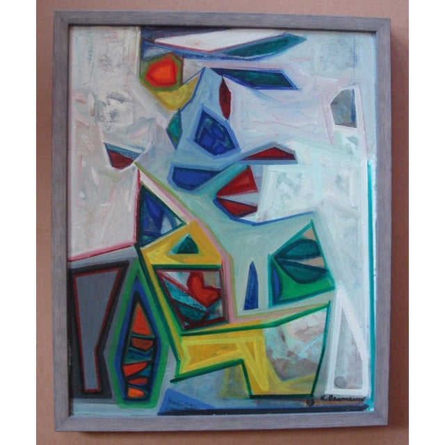 Karl Baumann Abstract 1968 Painting - Image 2 of 4