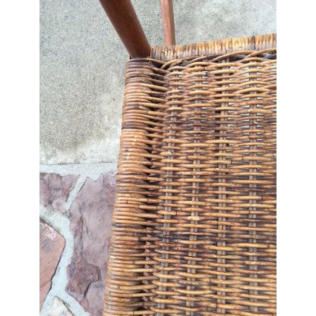 Teak Rattan Rocking Chair - Image 7 of 11