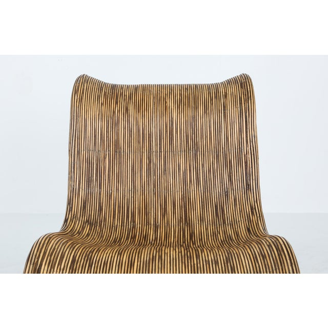 1980s Bamboo Rattan Lounge Chairs, Italy - a Pair For Sale - Image 11 of 13