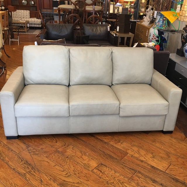 American Leather for Room & Board Convertible Sofa - Image 3 of 10