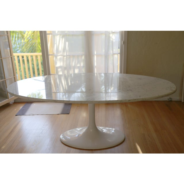 Saarinen Style Oval Marble Dining Table - Image 5 of 7