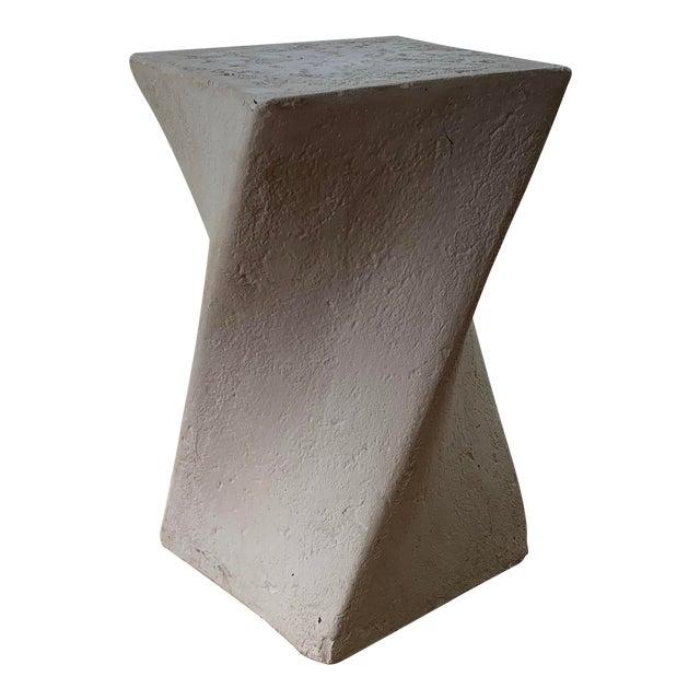 1970s Sculptural Plaster Pedestal For Sale