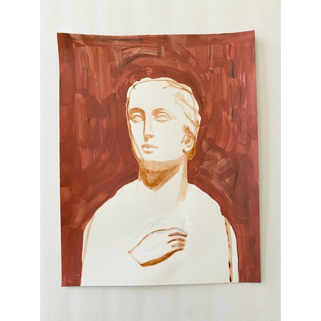 Original acrylic painting on paper of an ancient Roman sculpture, by Lizzy Sise. The original sculpture can be found in...
