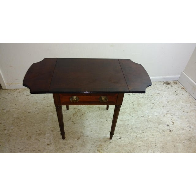 Duncan Phyfe-Style Drop Leaf Side Table - Image 2 of 7