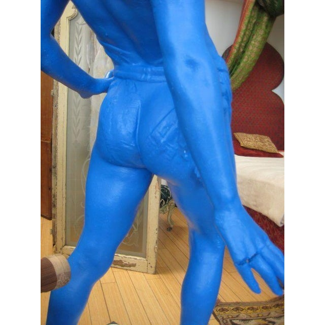 1950s Vintage Life-Sized Yves Klein Blue Boy Statue For Sale In San Francisco - Image 6 of 8