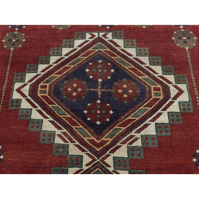 Antique Caucasian Kazak Hand Knotted Rug- 5′9″ × 8′5″ For Sale - Image 9 of 13