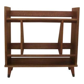 20th Century Danish Modern Wooden Bookcase For Sale
