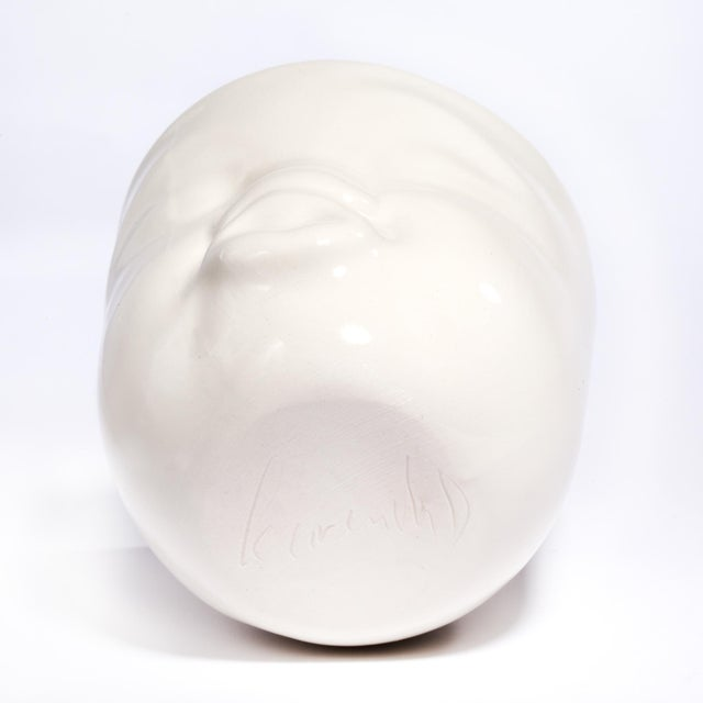 "White Ceramic ""Pouty"" Face Cup - Image 6 of 6"