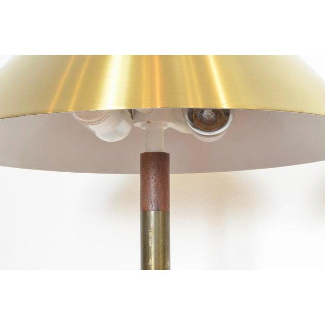 Jo Hammerborg President Brass and Teak Table Lamp For Sale In Phoenix - Image 6 of 10