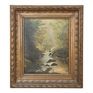 Antique Framed Oil Painting on Canvas by Lowet For Sale