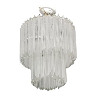 1960's Italian Two Tier Murano Glass Chandelier