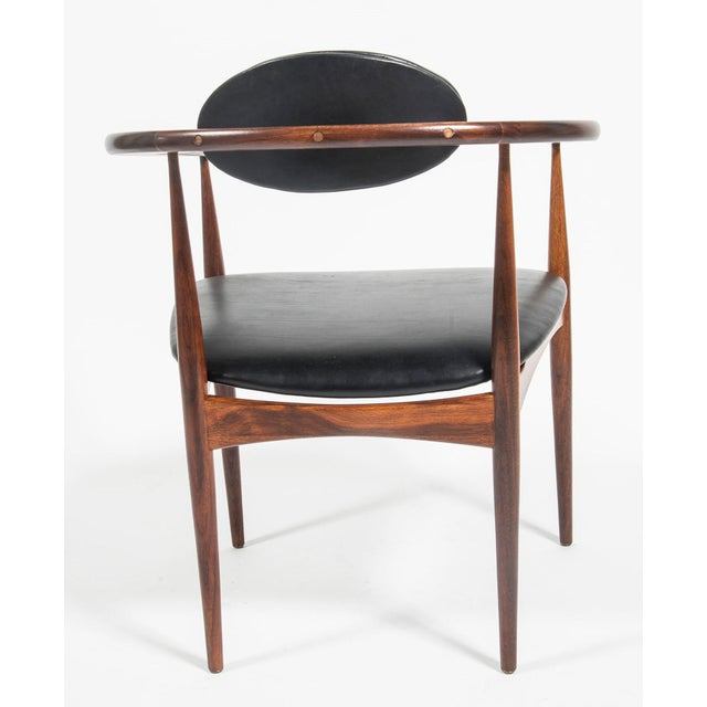 Adrian Pearsall Craft Associates Mid Century Black Leather 950 Chairs - a Pair For Sale - Image 9 of 13