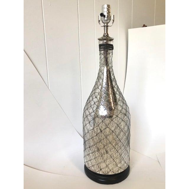 Coastal Inspired Mercury Glass Lamp For Sale - Image 10 of 10