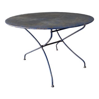 Folding Painted Iron French Garden Table For Sale