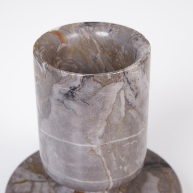 Angelo Mangiarotti Double Sided Marble Vase for Knoll For Sale - Image 9 of 12