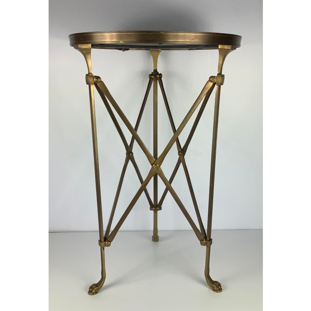 Vintage French Maison Jansen Empire Bronze Side Table For Sale - Image 4 of 7