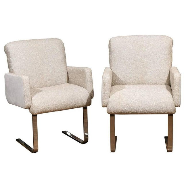 "Gray Pair of ""Lugano"" Chairs by Mariani for Pace For Sale - Image 8 of 8"