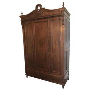 19th C. French Carved Armoire