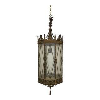 Vintage American Cast Bronze Lantern For Sale