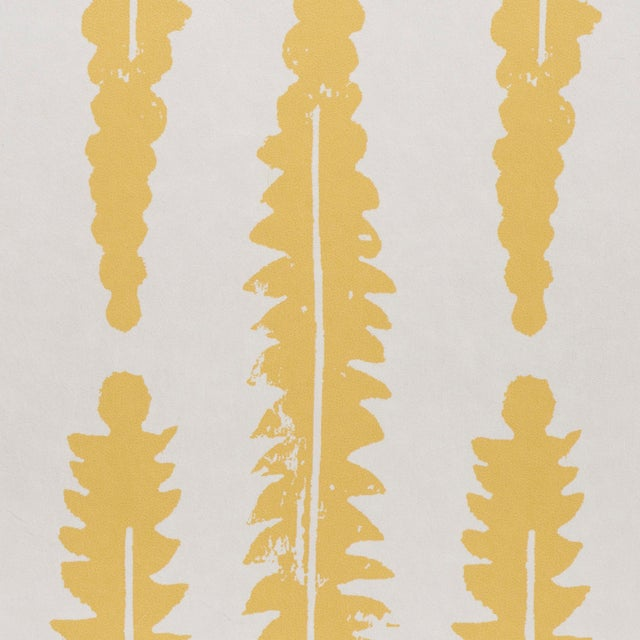 Schumacher Sample - Schumacher x Molly Mahon Fern Wallpaper in Mustard For Sale - Image 4 of 5