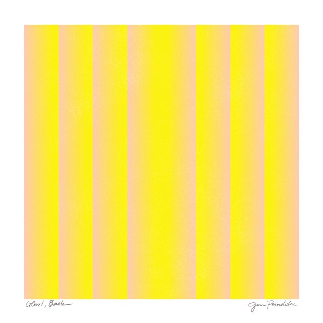 Abstract Jessica Poundstone Glow 1 - Bask Original Print For Sale - Image 3 of 3