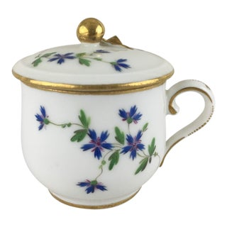 Late 18th Century French Porcelain Covered Demitasse For Sale